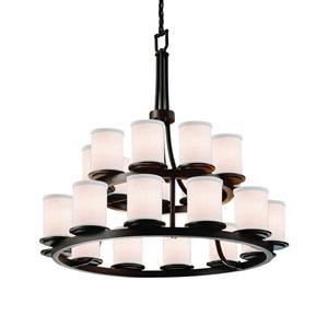 Textile  Dark Bronze 33-Inch LED Chandelier