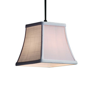 Textile Matte Black 6-Inch LED Mini Pendant