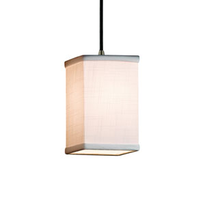 Textile Brushed Nickel 4-Inch LED Mini Pendant