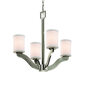 Textile Brushed Nickel 22-Inch LED Chandelier