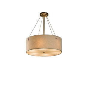 Textile Brushed Nickel 18-Inch LED Drum Pendant