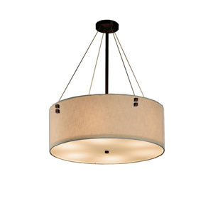 Textile  Dark Bronze 24-Inch LED Drum Pendant