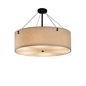 Textile  Dark Bronze 36-Inch LED Drum Pendant