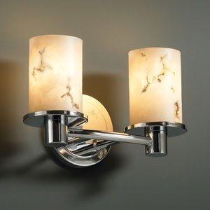 LumenAria Rondo Two-Light Dark Bronze Bath Fixture