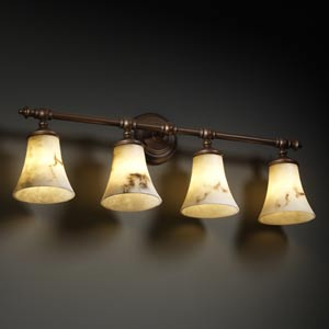 LumenAria Tradition Four-Light Bath Fixture