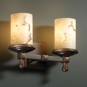 LumenAria Deco Two-Light Dark Bronze Bath Fixture