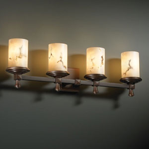 LumenAria Deco Four-Light Antique Brass Bath Fixture