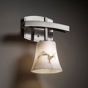 LumenAria Archway Brushed Nickel Wall Sconce