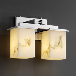LumenAria Montana Two-Light Polished Chrome Bath Fixture