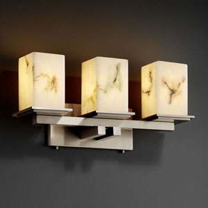 LumenAria Montana Three-Light Brushed Nickel Bath Fixture