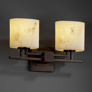 LumenAria Aero Two-Light Dark Bronze Bath Fixture
