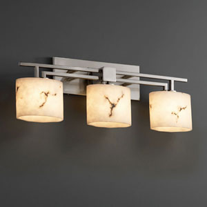 LumenAria Aero Three-Light Brushed Nickel Bath Fixture