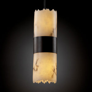 LumenAria Dakota Two-Up and Downlight Dark Bronze Large Mini Pendant
