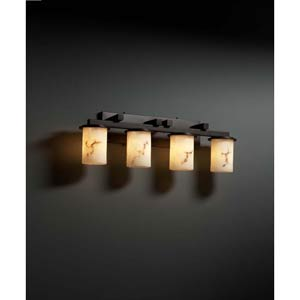 Dakota Dark Bronze Four-Light Straight-Bar Bath Fixture