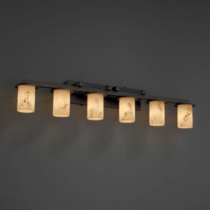 LumenAria Dakota Six-Light Dark Bronze Bath Fixture