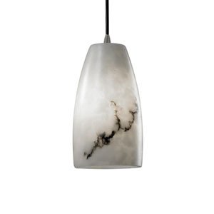 LumenAria Tapered Cylinder Pendant with Brushed Nickel Fitter