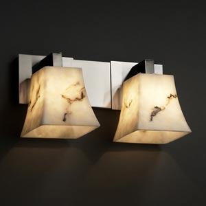 LumenAria Modular Brushed Nickel Two-Light Bath Light