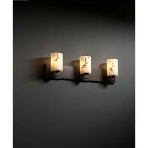 Modular Dark Bronze Three-Light Bath Fixture