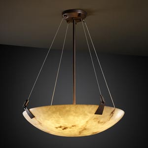 LumenAria 24-Inch Bowl Pendant with Tapered Clips