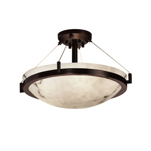 LumenAria 18 Bronze Semi-Flush Ceiling Light