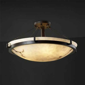 LumenAria 24-Inch 5000 Lumen LED Bronze Semi-Flush Mount
