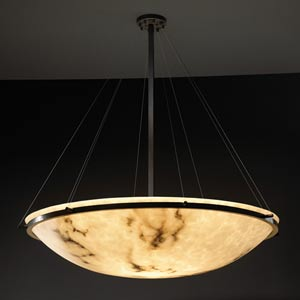 LumenAria 48-Inch Round Bowl Pendant with Ring