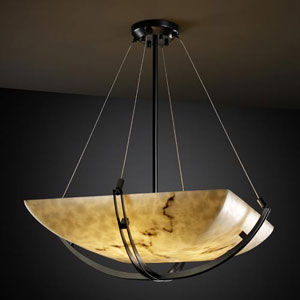 LumenAria 18-Inch Bowl 3000 Lumen LED Pendant with Crossbar