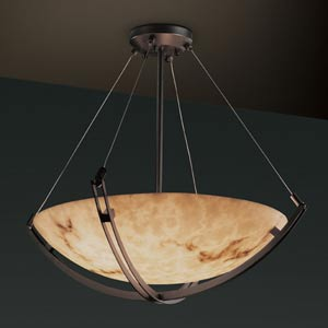 LumenAria 18-Inch Bowl Pendant with Crossbar
