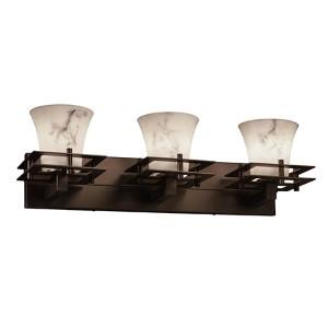 LumenAria Dark Bronze Three-Light Bath Bar