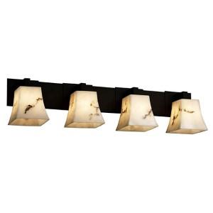 LumenAria Matte Black Four-Light Bath Bar