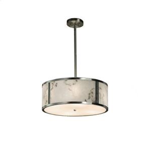 LumenAria Brushed Nickel 18-Inch LED Drum Pendant