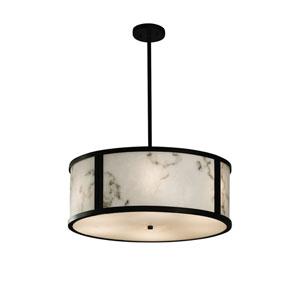 LumenAria  Dark Bronze 24-Inch LED Drum Pendant