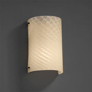 Fusion Finials Two-Light Matte Black Curved Wall Sconce