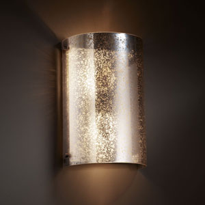 Fusion Finials Two-Light Dark Bronze Curved Wall Sconce
