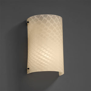 Fusion Finials Matte Black Curved Outdoor Wall Sconce