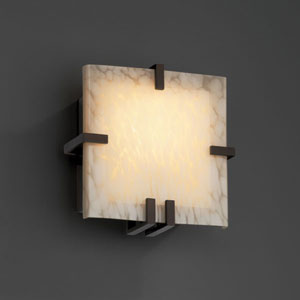 Fusion Clips Square Fluorescent Dark Bronze Wall Sconce
