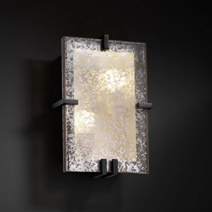 Fusion Clips RectangleTwo-Light Fluorescent Matte Black Wall Sconce
