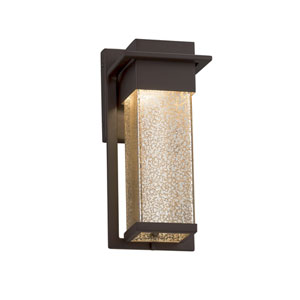 Fusion - Pacific Dark Bronze LED Outdoor Wall Sconce with Mercury Artisan Glass