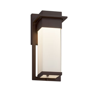 Fusion - Pacific Dark Bronze LED Outdoor Wall Sconce with Opal Artisan Glass
