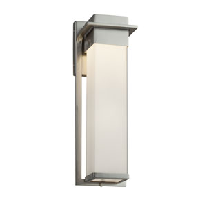 Fusion - Pacific Brushed Nickel LED Outdoor Wall Sconce with Opal Artisan Glass