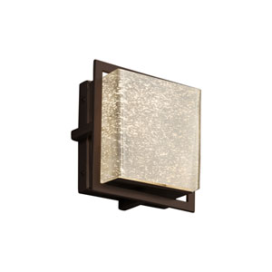 Fusion - Avalon Dark Bronze Seven-Inch LED Outdoor Wall Sconce with Mercury Artisan Glass
