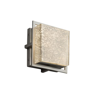 Fusion - Avalon Brushed Nickel Seven-Inch LED Outdoor Wall Sconce with Mercury Artisan Glass