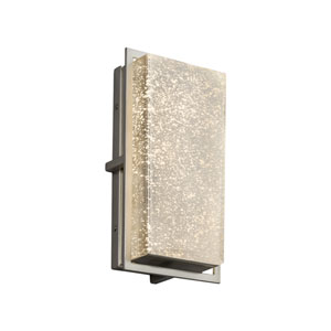 Fusion - Avalon Brushed Nickel LED Outdoor Wall Sconce with Mercury Artisan Glass