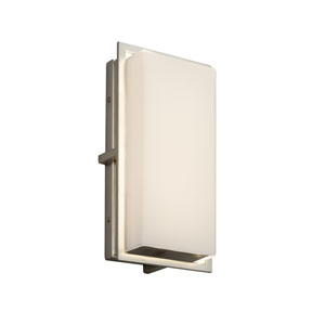 Fusion - Avalon Brushed Nickel LED Outdoor Wall Sconce with Opal Artisan Glass