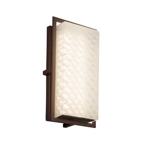 Fusion - Avalon Dark Bronze LED Outdoor Wall Sconce with Weave Artisan Glass