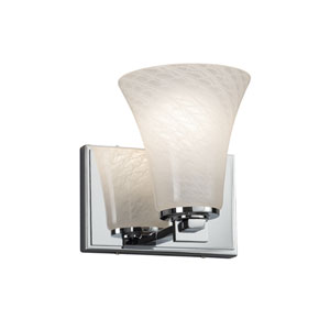 Fusion - Era Polished Chrome LED Wall Sconce with Weave Artisan Glass