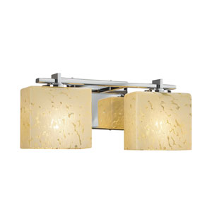 Fusion - Era Polished Chrome Two-Light LED Bath Vanity with Droplet Artisan Glass