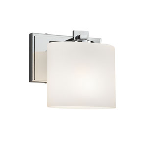 Fusion - Era Polished Chrome One-Light Wall Sconce with Opal Artisan Glass