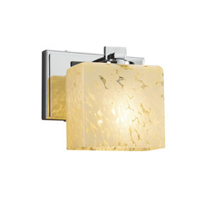 Fusion - Era Polished Chrome LED Wall Sconce with Droplet Artisan Glass