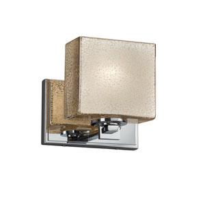 Fusion - Era Polished Chrome One-Light Wall Sconce with Mercury Artisan Glass